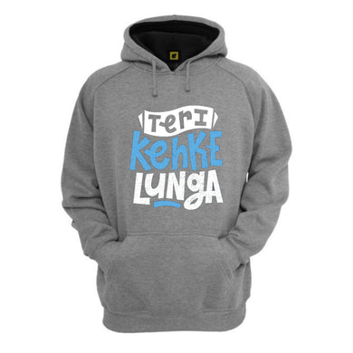 Keh Ke Lunga Thick Super Warm Premium 3D Grey Hoodie