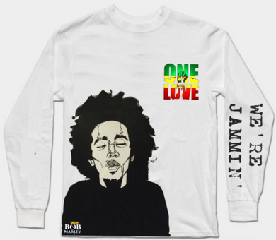 Bob Marley Full Sleeves White T-Shirt