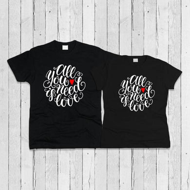 All you need is Love black Tshirt Combo - Badtamees