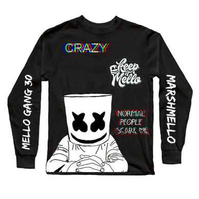 Marshmello Long Sleeves Black T-Shirt