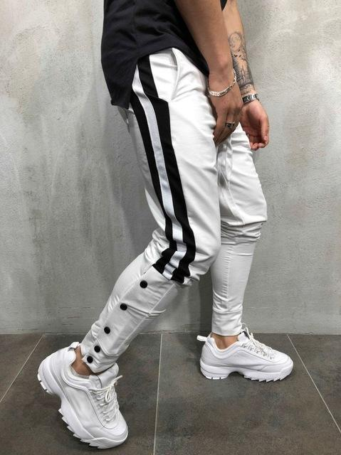 White With Black Strips Slim Fit Jogger Regular price