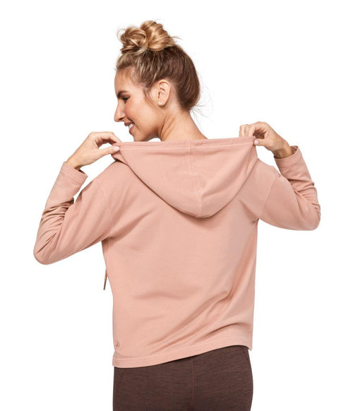 Manduka Resolution Zipped Hoodie - Dusty Rose