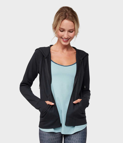 Manduka Resolution Zipped Hoodie - Black
