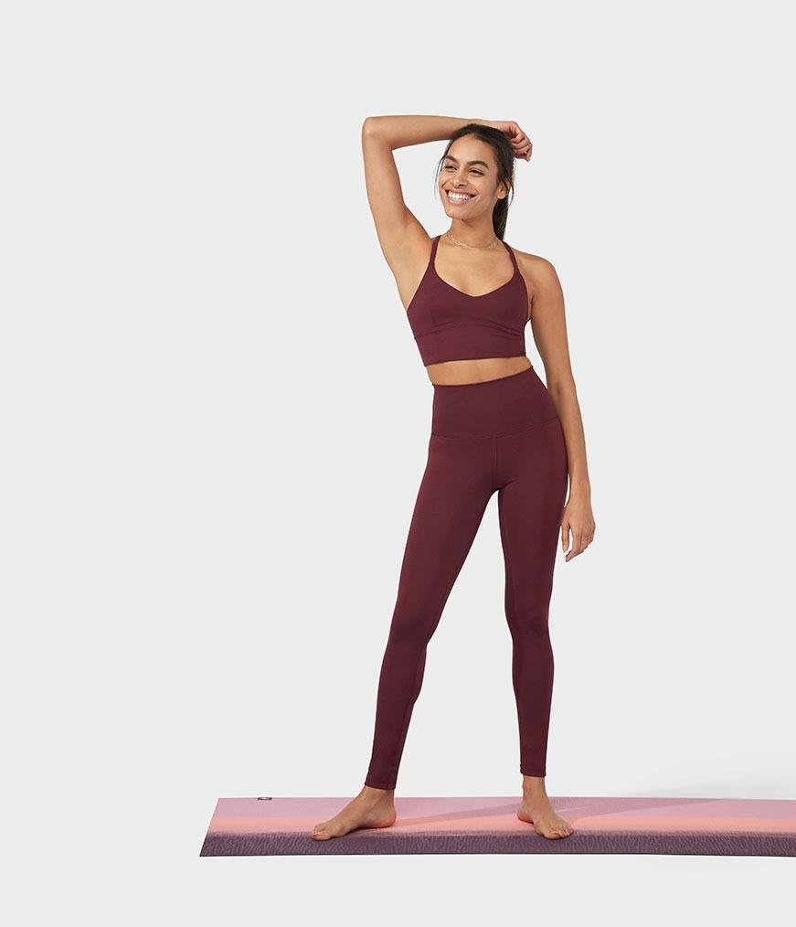 Manduka Performance Legging High Rise With Media Pocket - Fig