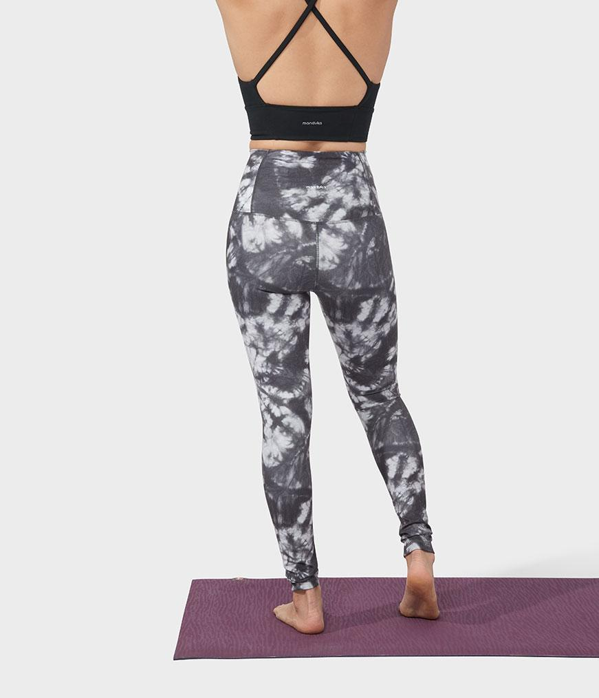 Manduka Performance Legging High Rise Printed - Camo Tie Dye Blacks