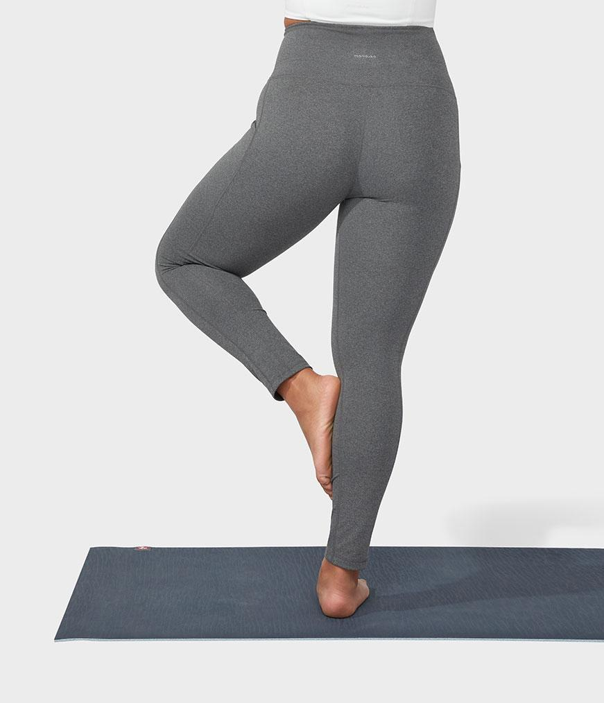 Manduka Performance Legging High Rise With Pocket - Heathered Grey