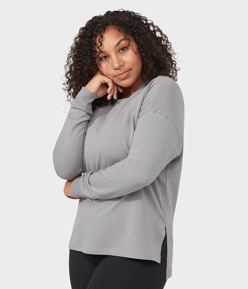 Manduka Performance Sweatshirt Long Sleeve - Silver Filigree