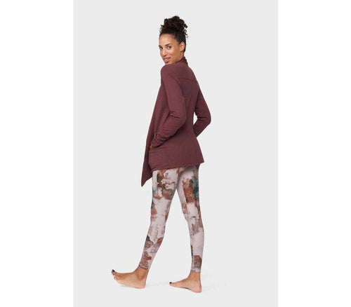 Manduka Resolution Pocket Cardigan - Dark Chestnut