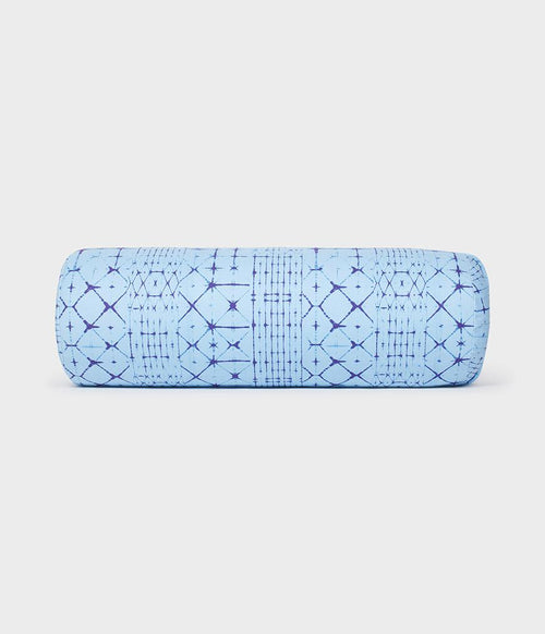 Manduka enlight® Round Bolster - Star Dye Clear Blue ( Pre-Order 5 May 2021 )