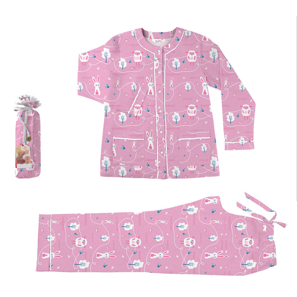 Counting Sheep Mommy Cotton Henley Neck  Pyjama Set