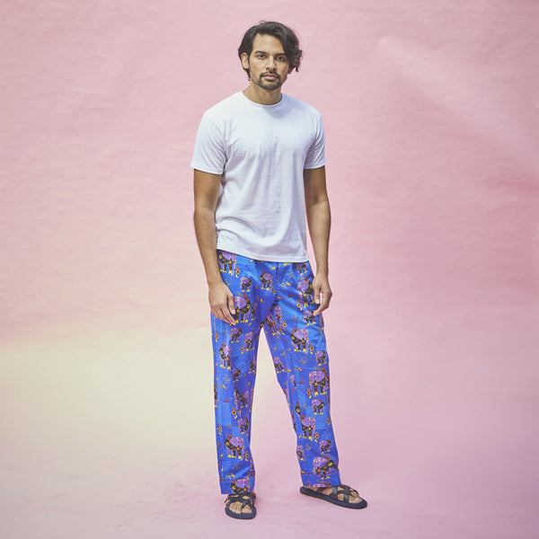Dandelion - Blue - Printed Cotton - Elephant - T-Shirts & Pajamas