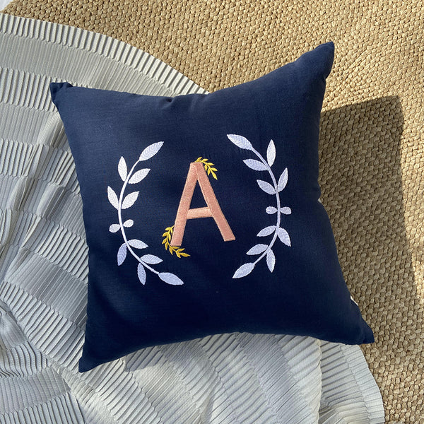 Crescent Monogram Cushion
