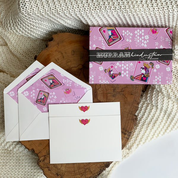 Dandelion - Pink - Printed Paper - Queen Cards - Post Cards