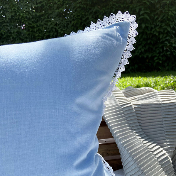 Cornflower Textured Woven Cushion