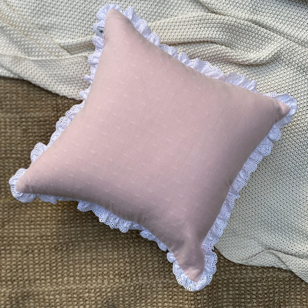 Amaranth Textured Woven Cushion