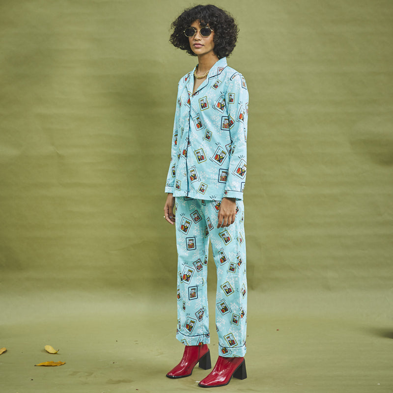 The King Of Hearts Cotton Notched Pyjama Set