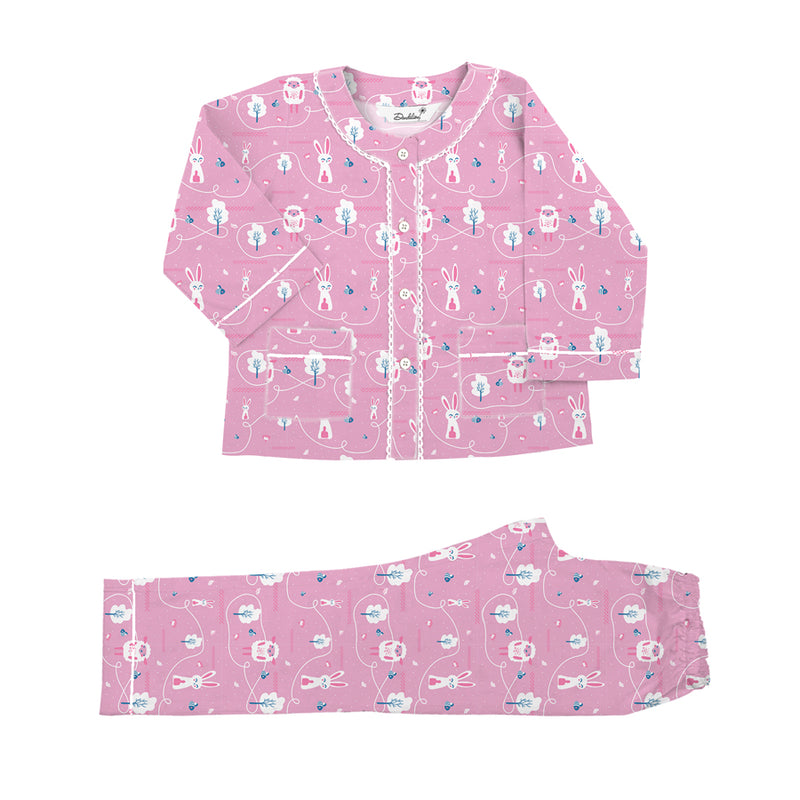 Counting Sheep Cotton Henley Neck Pyjama Set