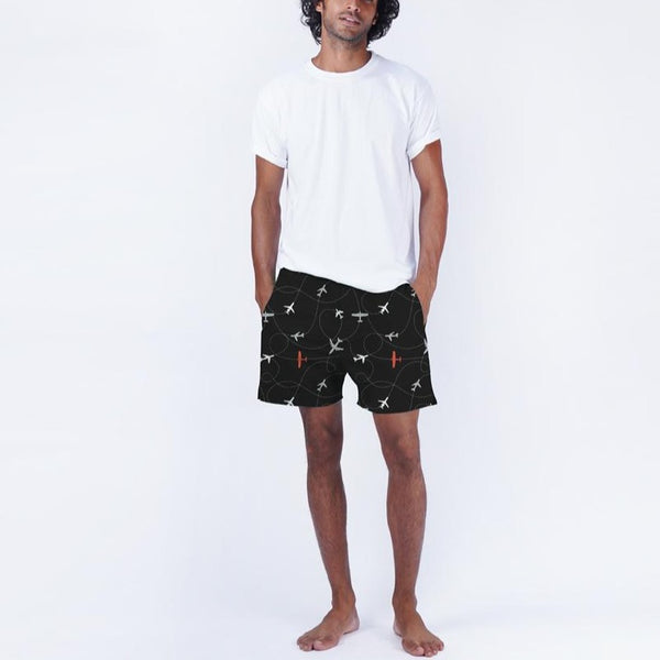 Dandelion - Black - Printed Cotton- Aeroplanes - T-shirt & Boxers