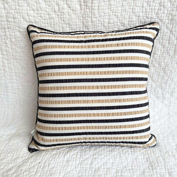 Cosmic Latte Stripe Cushion