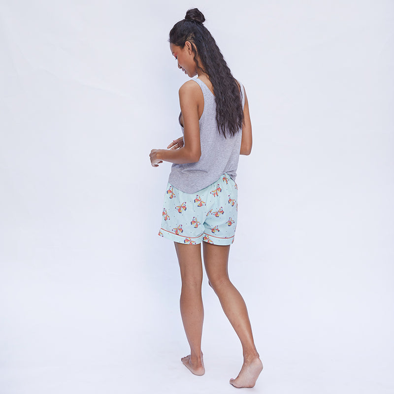 Kissed By A Butterfly Cotton Only Shorts
