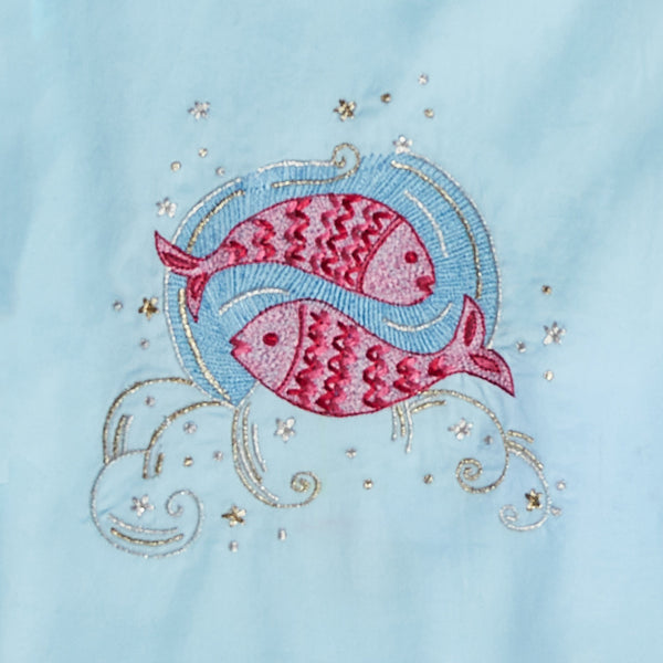 Women Pisces – The Fish Embroidered Pyjama Set