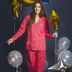 Women Sagittarius– The Archer Embroidered Pyjama Set