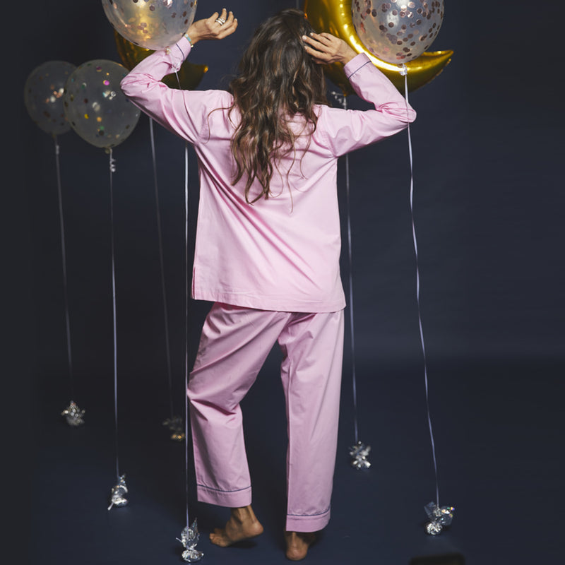 Women Taurus Symbol Notched Collared Pyjama Set