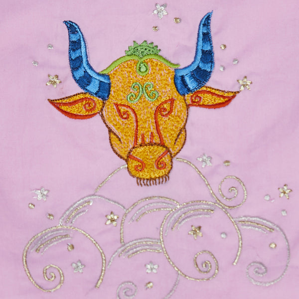 Women Taurus – The Bull Embroidered Pyjama Set