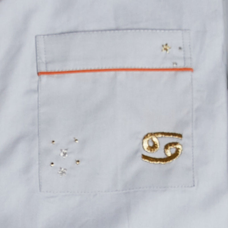 Cancer – The Crab Embroidered Notched Shorts Set