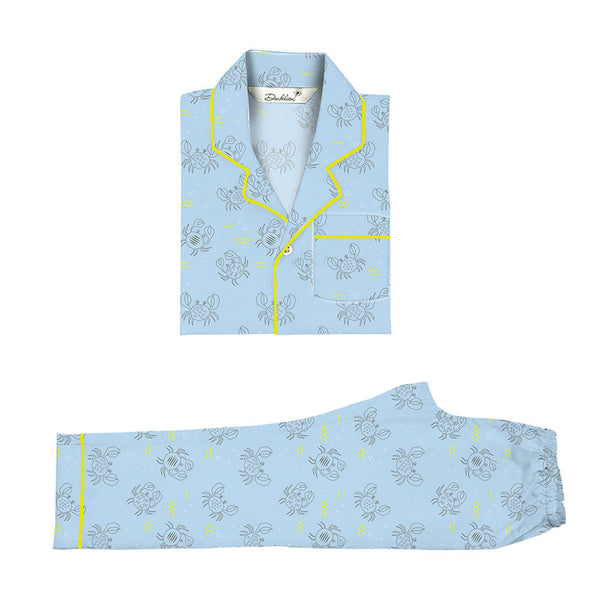 Baby Boy Cotton Notched Collar Pyjama Set
