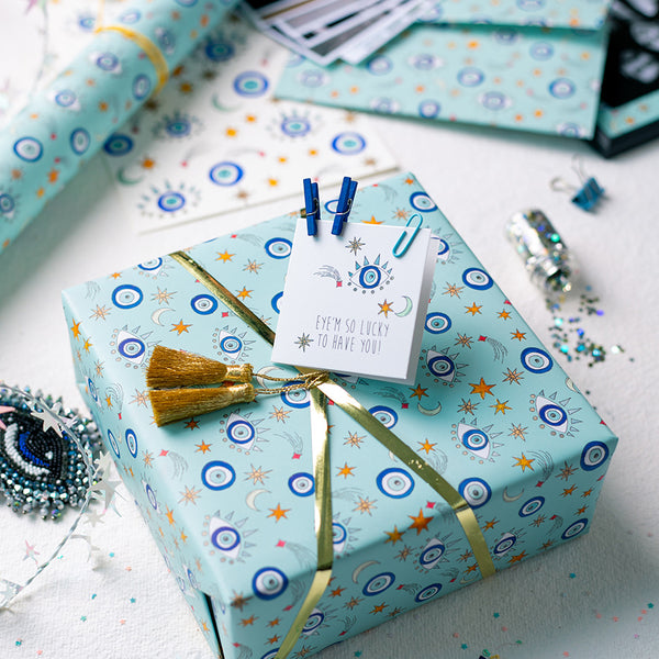 Eyes On You - Wrapping Paper Sheets & Gift Cards (Set of 10)