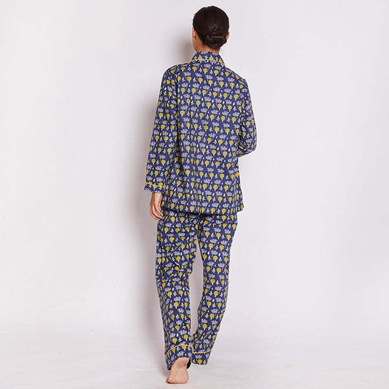 Oasis Cotton Notched Collar Pyjama Set