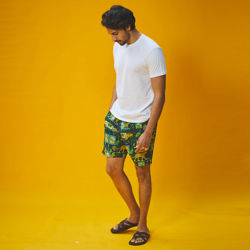 A Walk on The Wild Side Cotton Boxers & T-Shirt