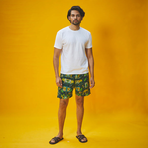 Dandelion - Green - Printed Cotton - Jungle Safari- T-shirt & Pajama