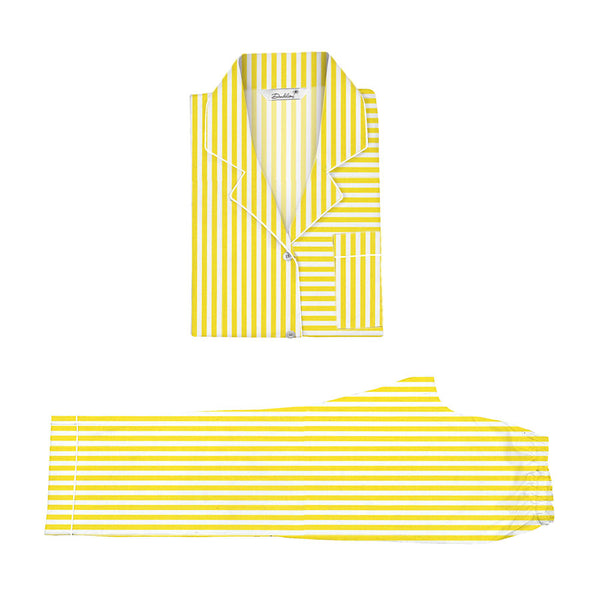 Dandelion-Yellow -Cotton-Yellow Stripe- Candy Stripe- Pajamas Sets