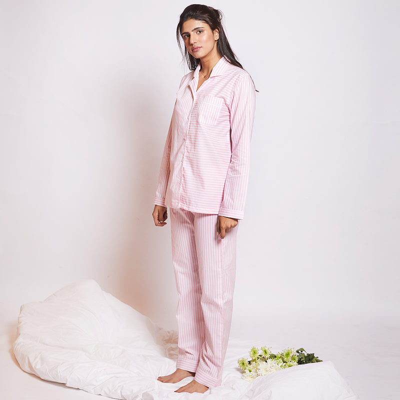 Marshmallow Cotton Notched Pyjama Set