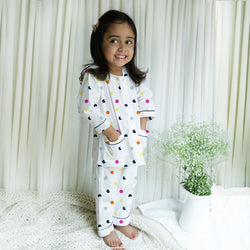 Milky Way Cotton Henley Neck Pyjama Set