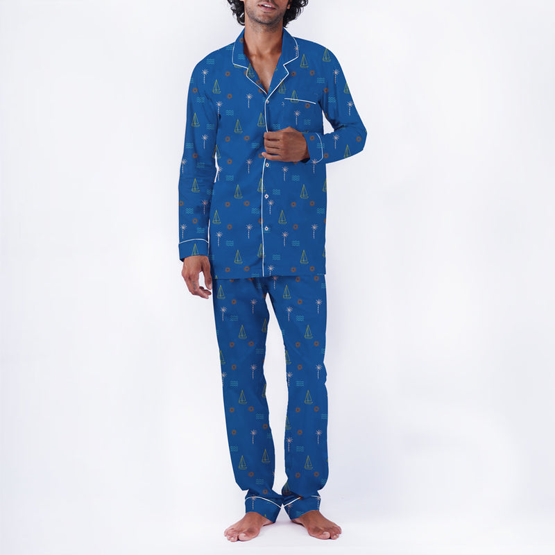 Coastline Cotton Notched Pyjama Set