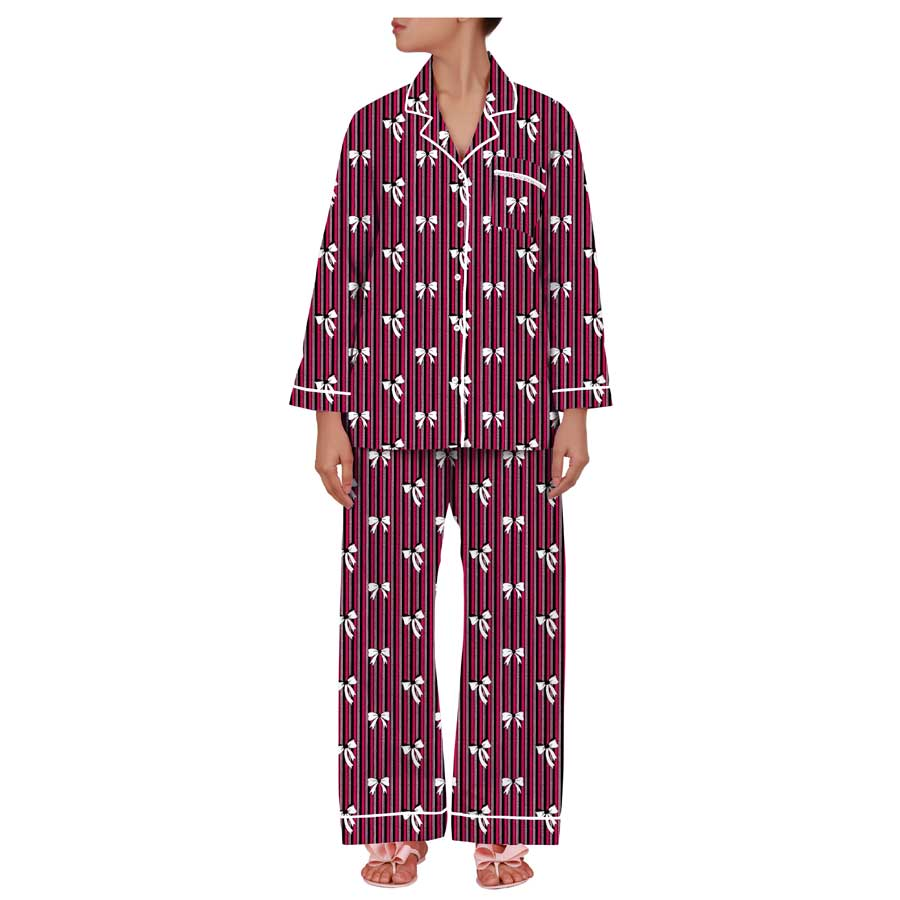 Notched Collar Full Sleeve PJ