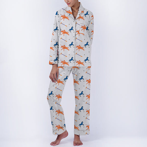 Poloside Cotton Notched Pyjama Set