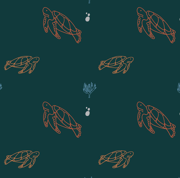 Sea Turtles Cotton Boxers & T-Shirt