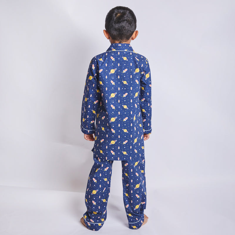 Rocket Cotton Notched  Pyjama Set