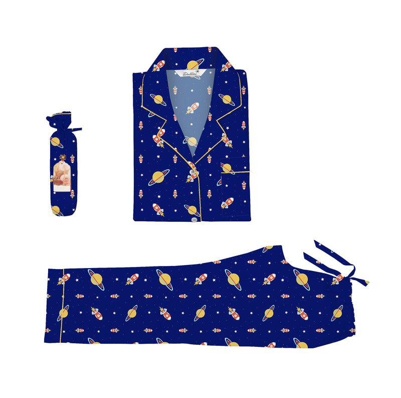 Rocket Mommy Cotton Notched Pyjama Set