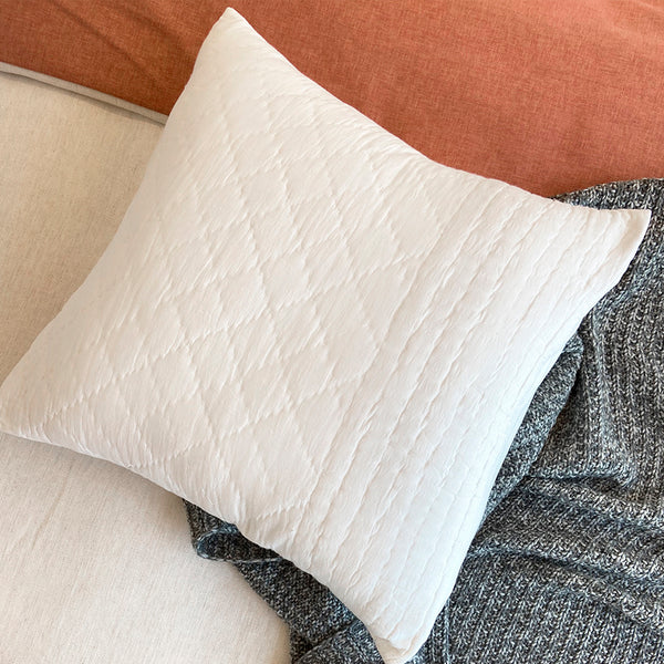 The Durkheim Quilted Cushion - Frost (Set of 2)
