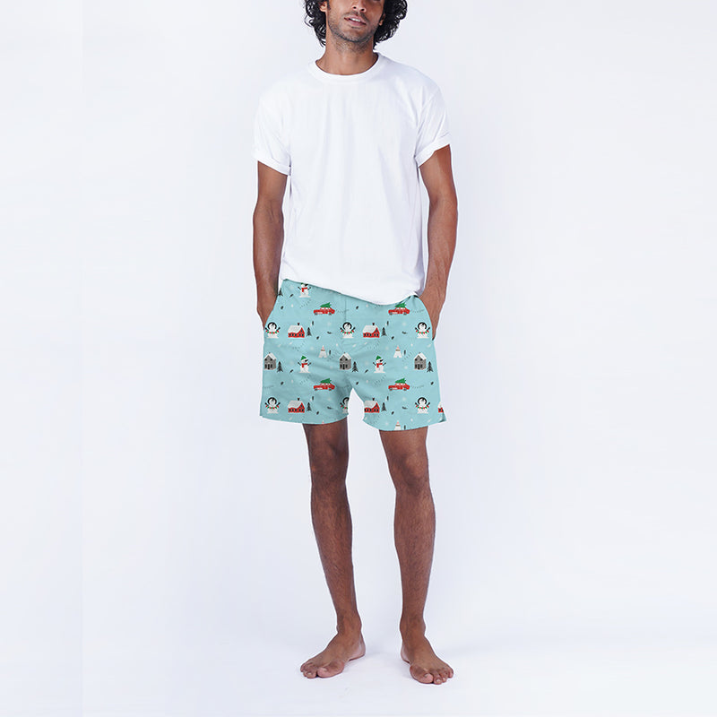 Frosty Days Cotton Boxers & T-Shirt