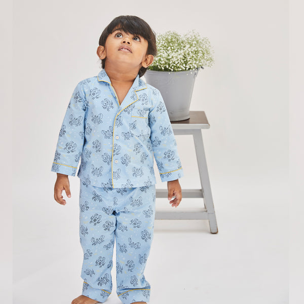 Dandelion -Cotton - Blue - Crabs - Kids Pajama Sets