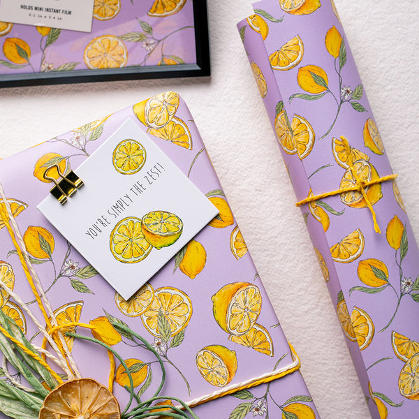When Life Throws you Lemons - Wrapping Paper Sheets & Gift Cards (Set of 10)