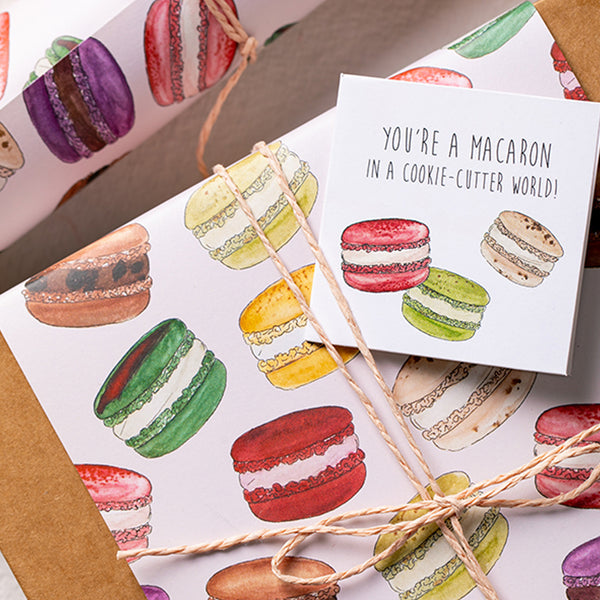 The Magic of Macarons - Wrapping Paper Sheets & Gift Cards (Set of 10)