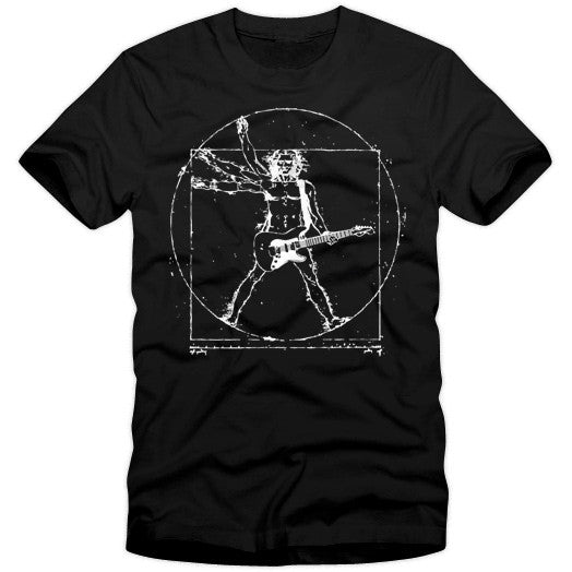Da Vinci Rock Guitarist T-Shirt