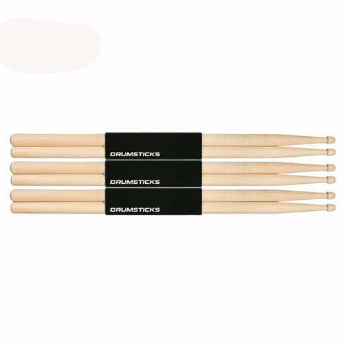3 Pairs of Maple Wood Drumsticks Sticks